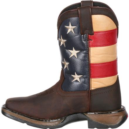 Lil' Rebel™ by Durango® Big Kids' Flag Western Boot, , large