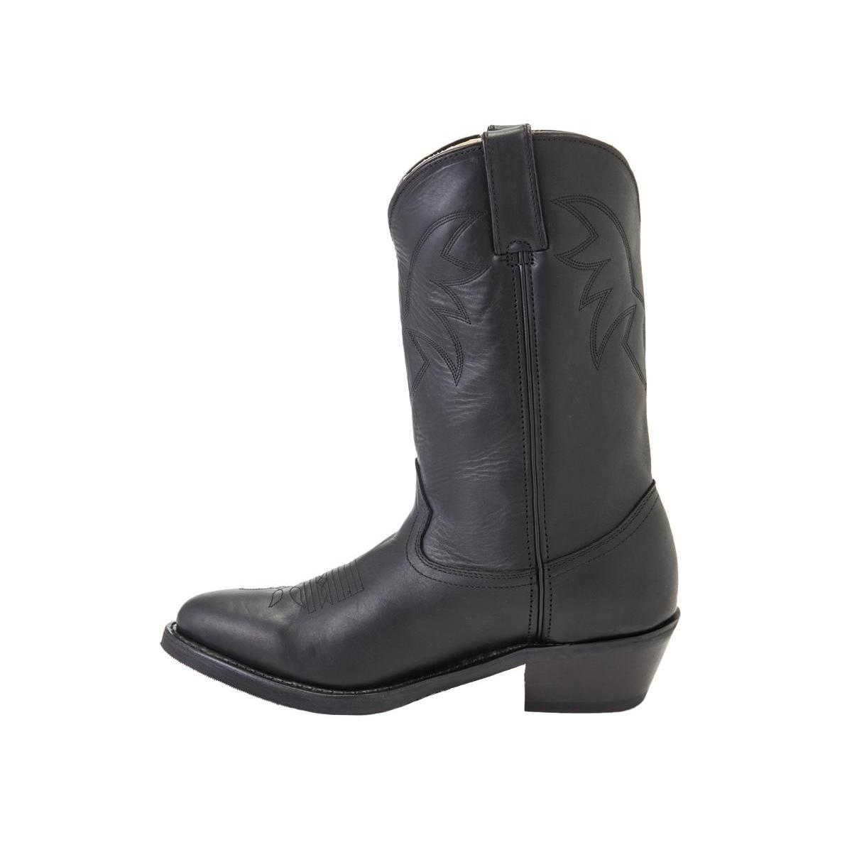 Durango: Men's Oiled Black Leather Comfort Western Boots