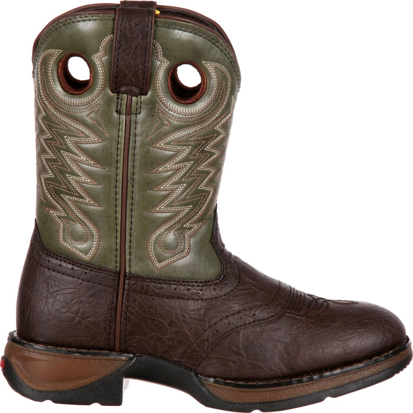 d4545beee7 Durango Kids  Boots - Brown and Green Pull-On Western Boots - Style ...