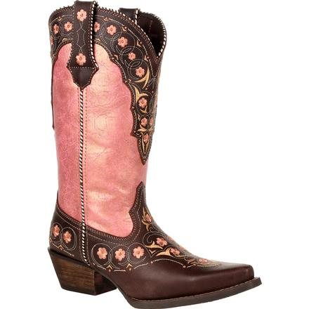 Crush™ by Durango® Women's Vintage Rose Gold Floral Western Boot