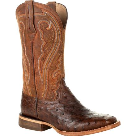 Durango® Premium Exotics™ Women's Full-Quill Ostrich Antiqued Saddle Western Boot