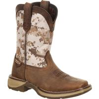 Lil' Rebel™ by Durango® Big Kids Desert Camo Western Boot, , medium