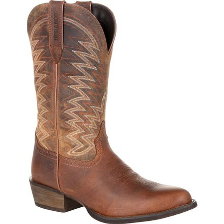 Durango Rebel Frontier Distressed Brown R-Toe Western Boot, , large
