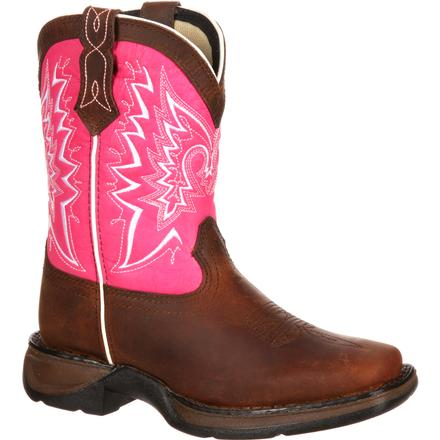 LIL' DURANGO® Big Kid Let Love Fly Western Boot