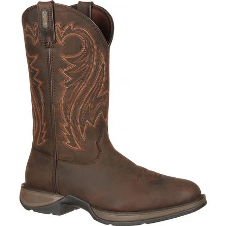 Rebel by Durango Chocolate Pull-On Western Boot, , large