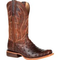 Durango® Premium Exotic Full-Quill Ostrich Chestnut Western Boot, , medium