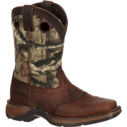 Lil' Durango Big Kid Camo Saddle Western Boot, , large