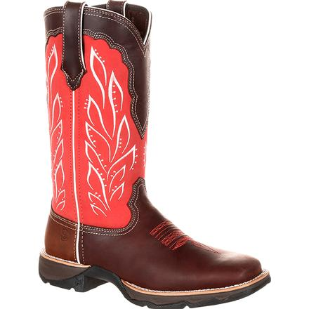 Lady Rebel by Durango Women's Strawberry Sunrise Western Boot, , large