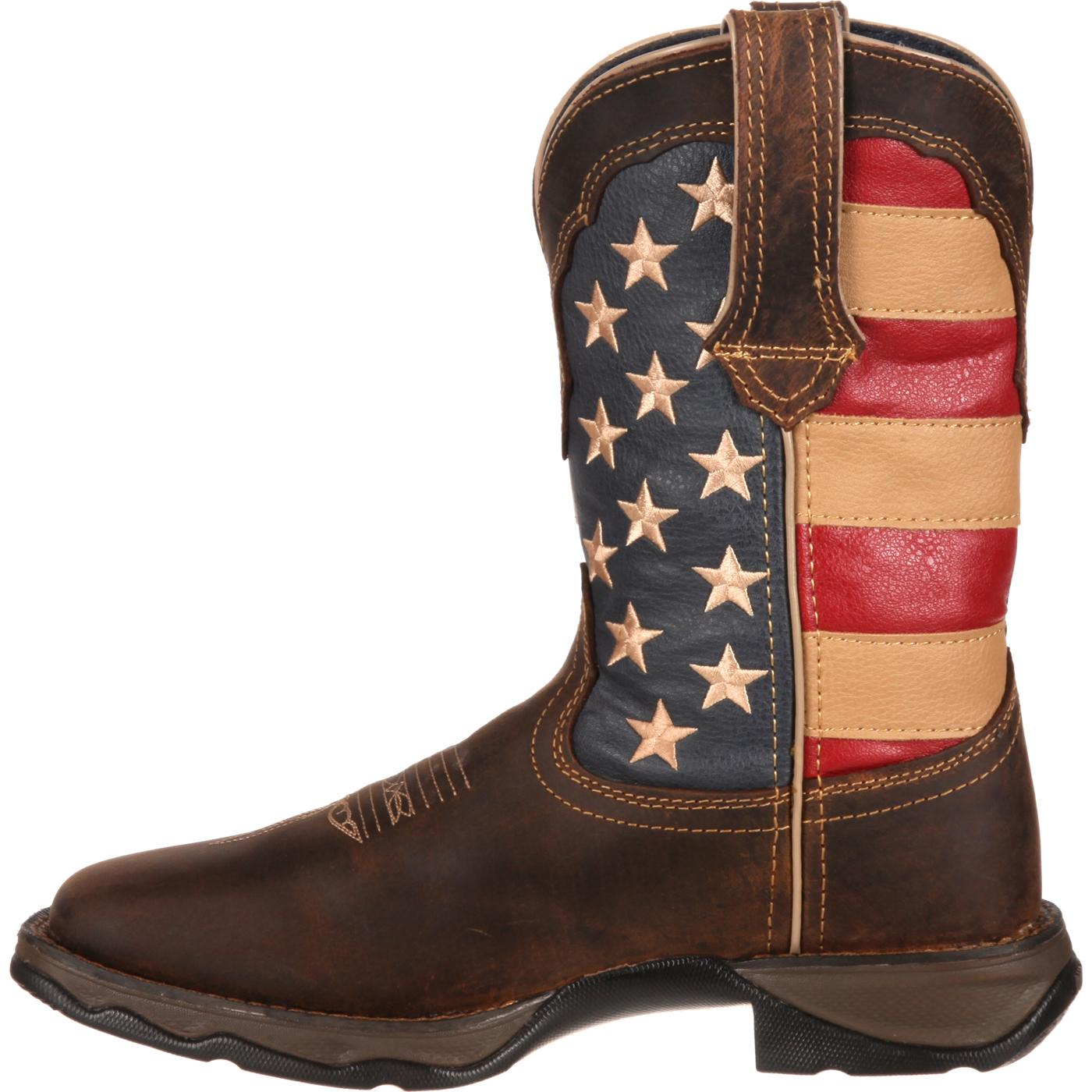 d7fae6e10b4 Lady Rebel by Durango Patriotic Women's Pull-On Western Flag Boot