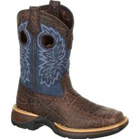 Lil' Rebel by Durango Big Kids Faux Exotic Western Boot, , medium