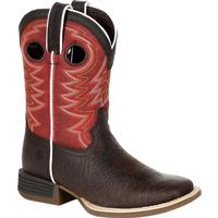 Durango® Lil' Rebel Pro™ Big Kid's Red Western Boot, , medium