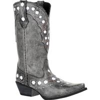 Crush™ by Durango® Women's Pewter Floral Western Boot, , medium