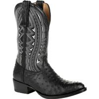 Durango® Premium Exotic Full-Quill Ostrich Ebony Western Boot, , medium