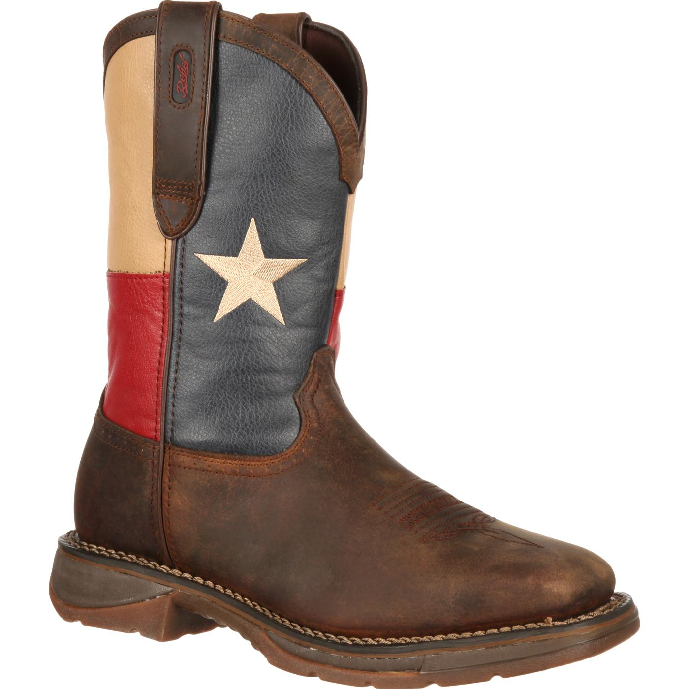 Rebel by Durango Steel Toe Texas Flag Western Boot  large