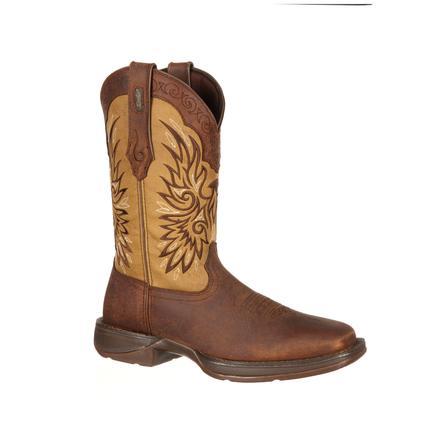 Durango Mens Tan Brown Boots Leather Rebel 12 Inch Wingman
