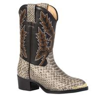 Durango Little Kid Tan Snake Print Western Boot, , medium