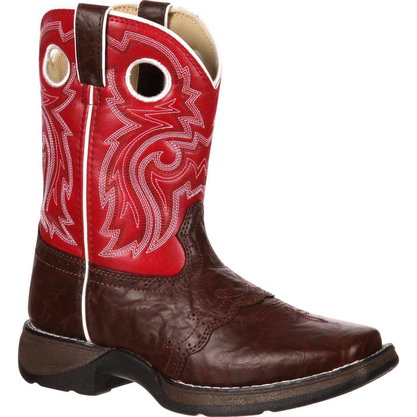 5d6e644e759 Lil  Durango  Kid s Square Toe Pull-On Western Boots - Style  BT285