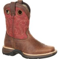 Lil' Rebel™ by Durango® Big Kids' Waterproof Western Saddle Boot, , medium