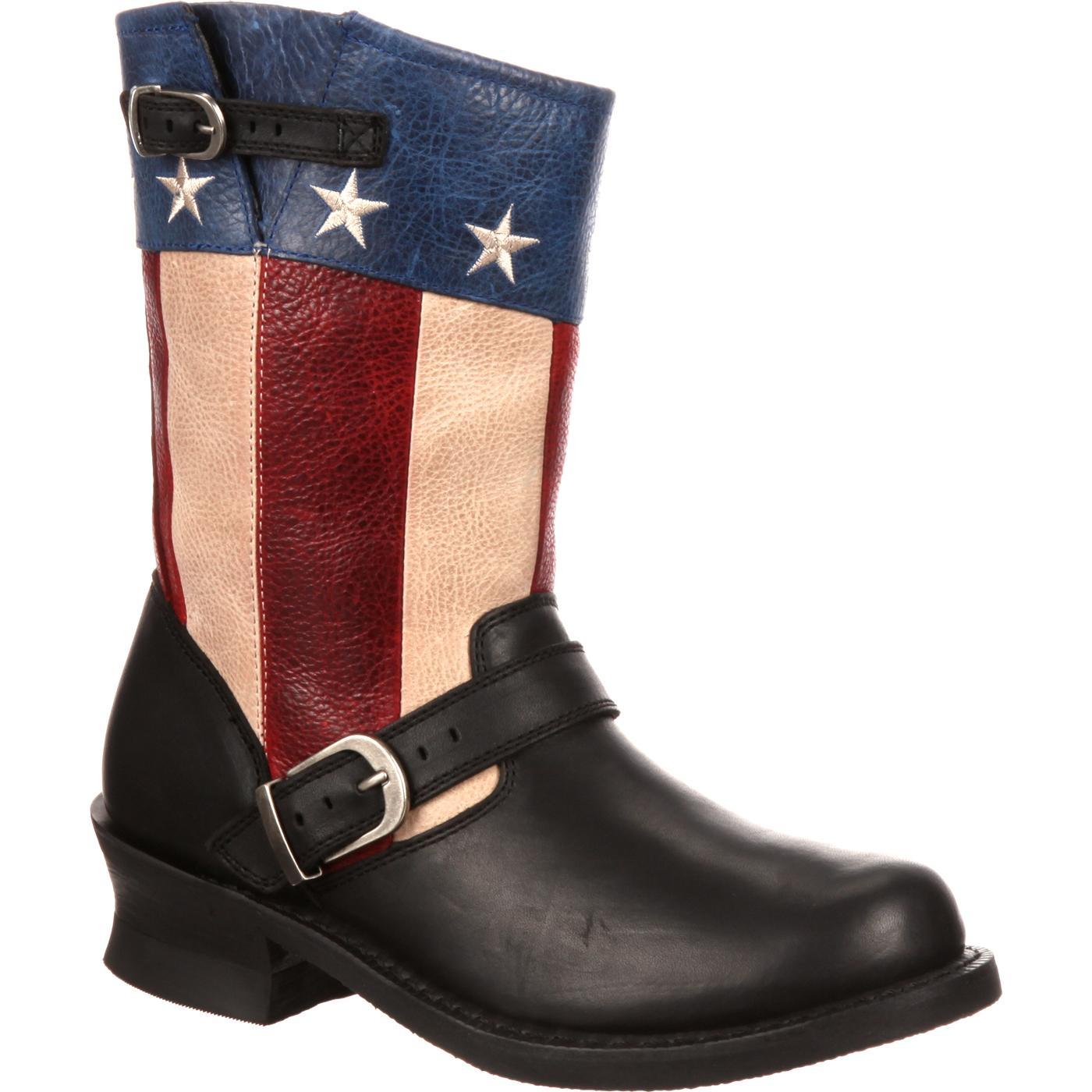 f7e823234a4 Durango City Women's SoHo Patriotic Engineer Flag Boot