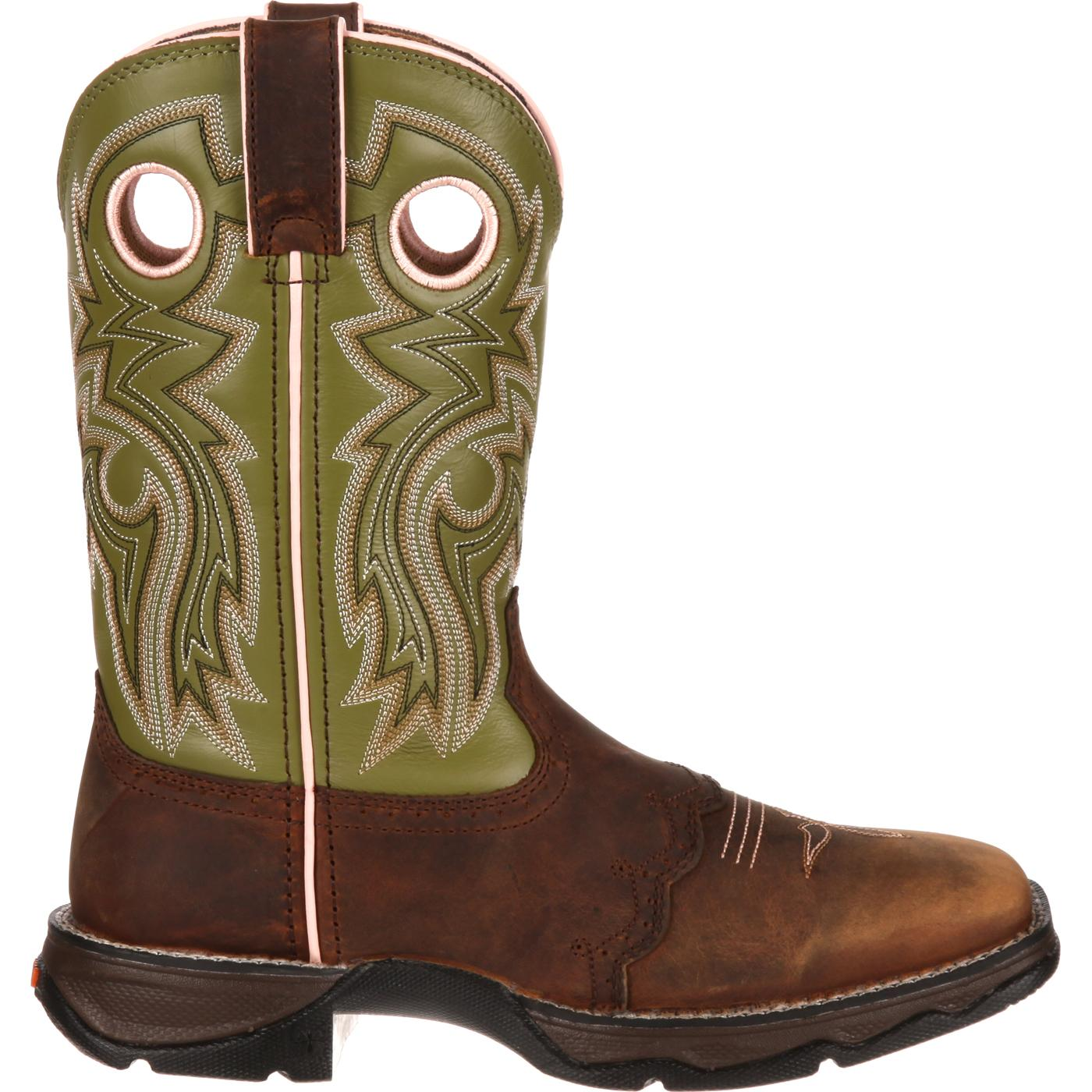 ae9a3f7a44e Lady Rebel by Durango Women's Meadow n' Lace Saddle Western Boot