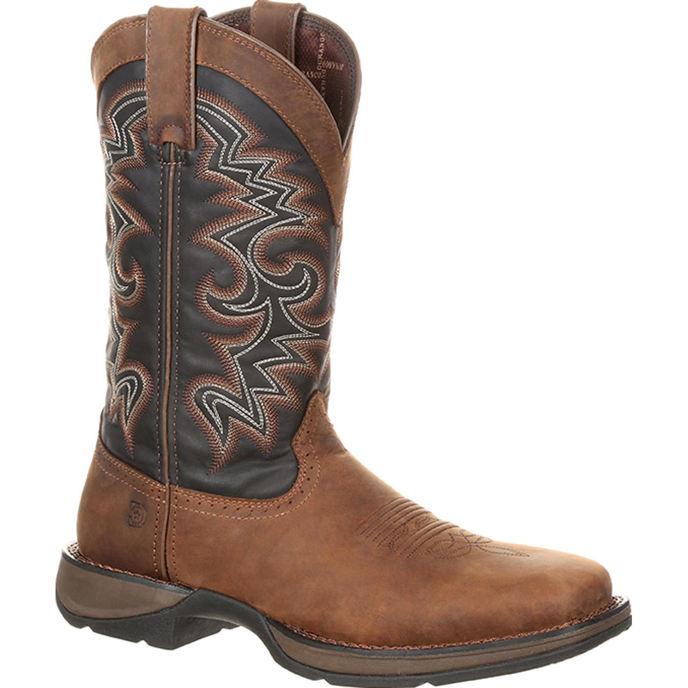 Durango Mens Brown Boots Leather Rebel 11 Inch Pull On Trail