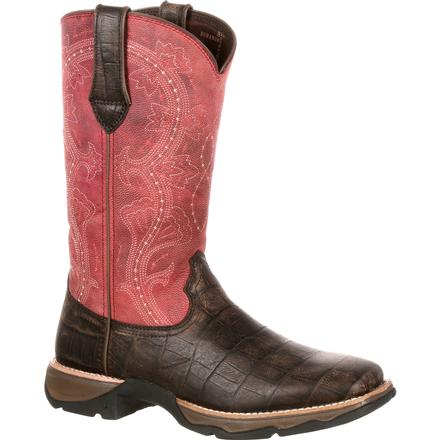 Lady Rebel by Durango Women's Gator Embossed Western Boot, , large