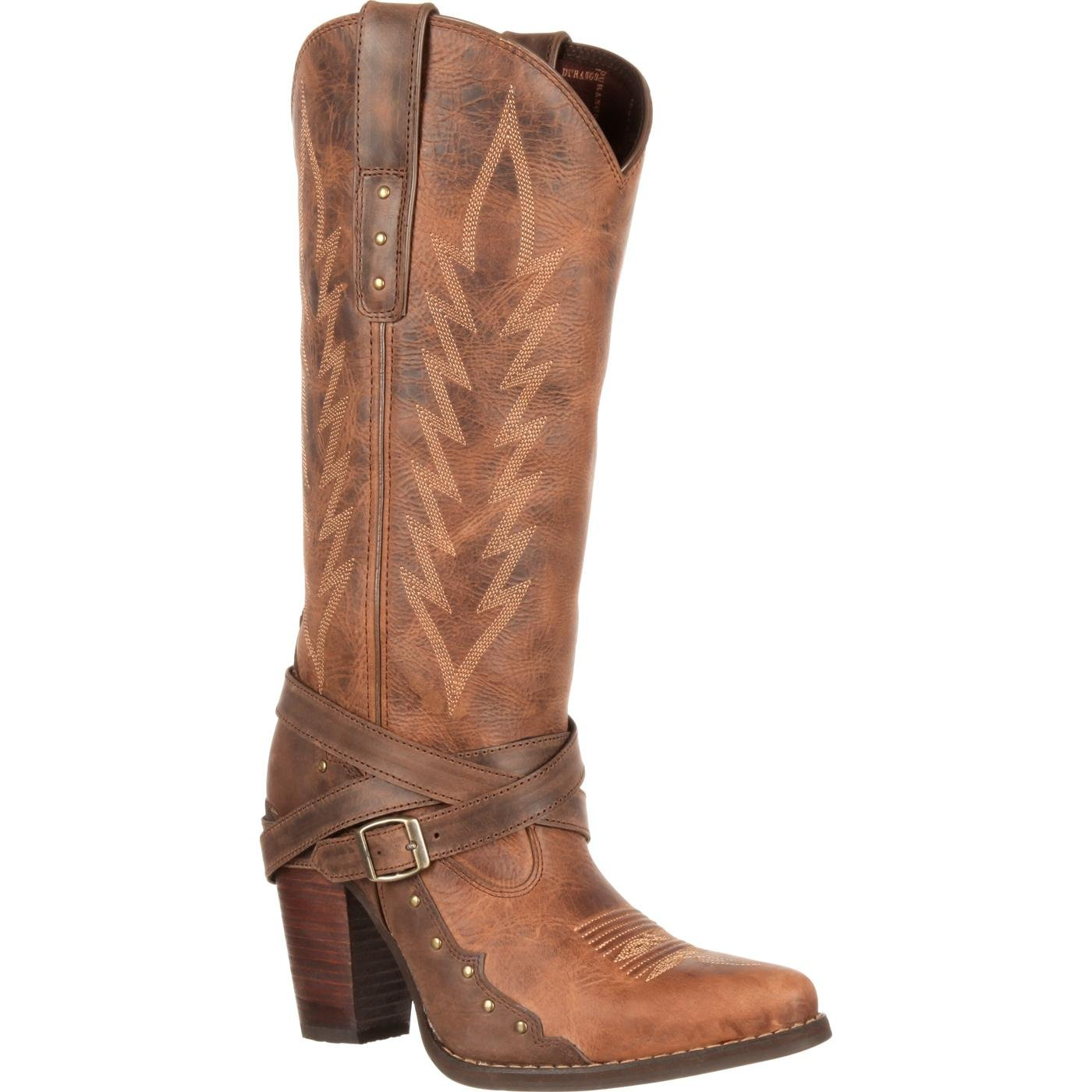 Durango City Women's Aubrey High Heel Cowgirl Buckle Boot - Durango