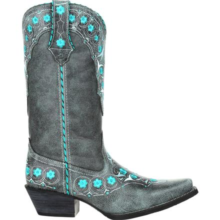 Crush™ by Durango® Women's Blue Floral Western Boot, , large