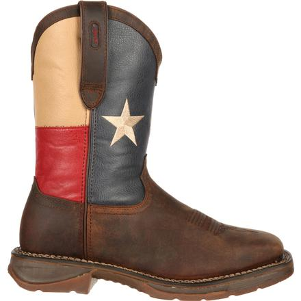Rebel™ by Durango® Steel Toe Texas Flag Western Boot, , large