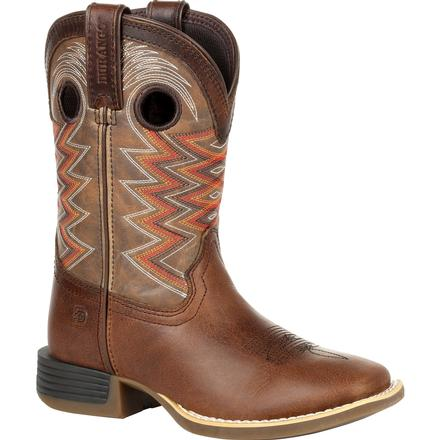 Durango® Lil' Rebel Pro™ Big Kid's Tiger Eye Western Boot