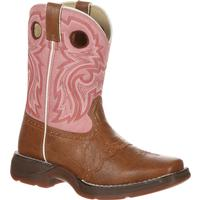 Lil' Durango Little Kid Tan Lacey Western Boot, , medium