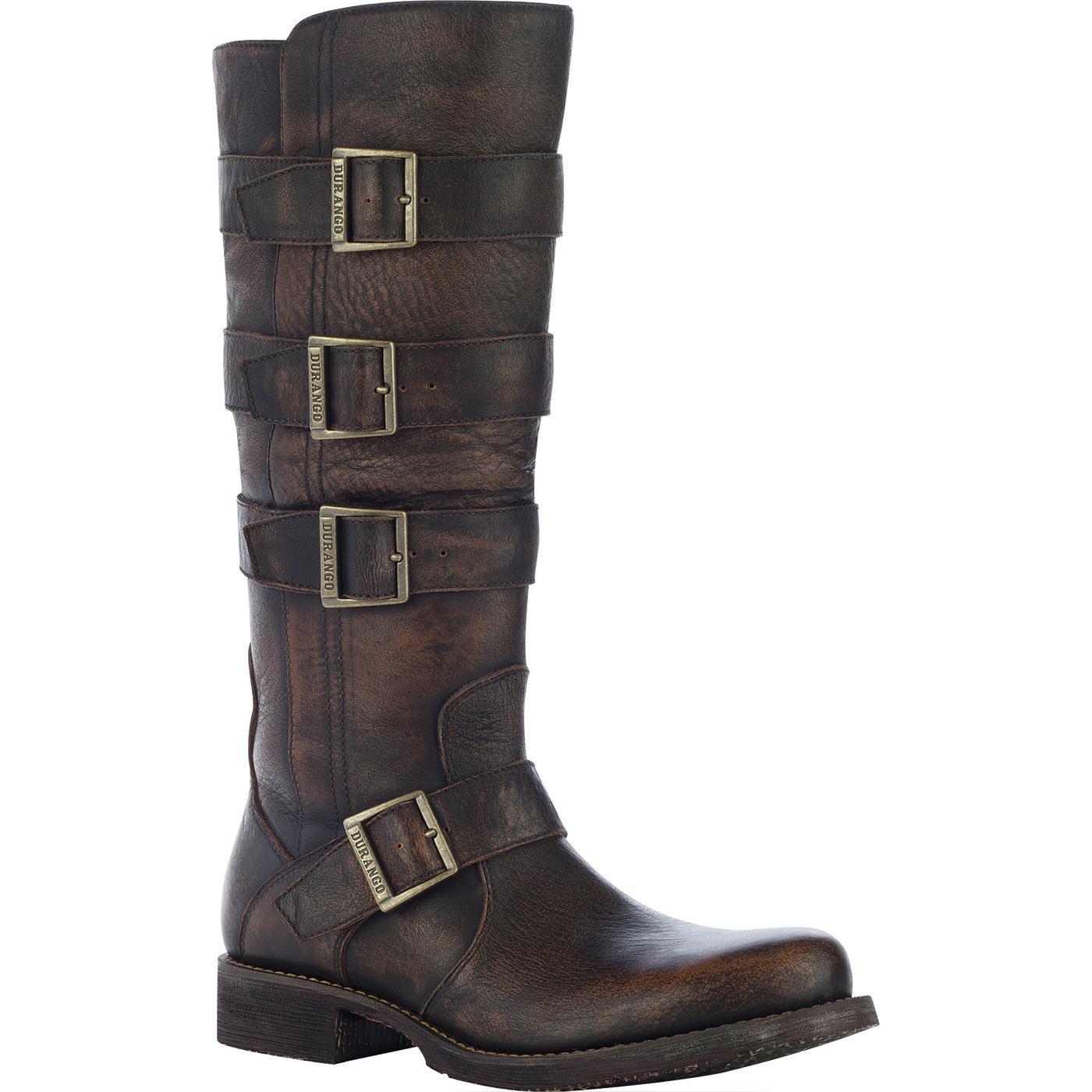 Durango City Savannah Women S Engineer Leather Boots Rd0574
