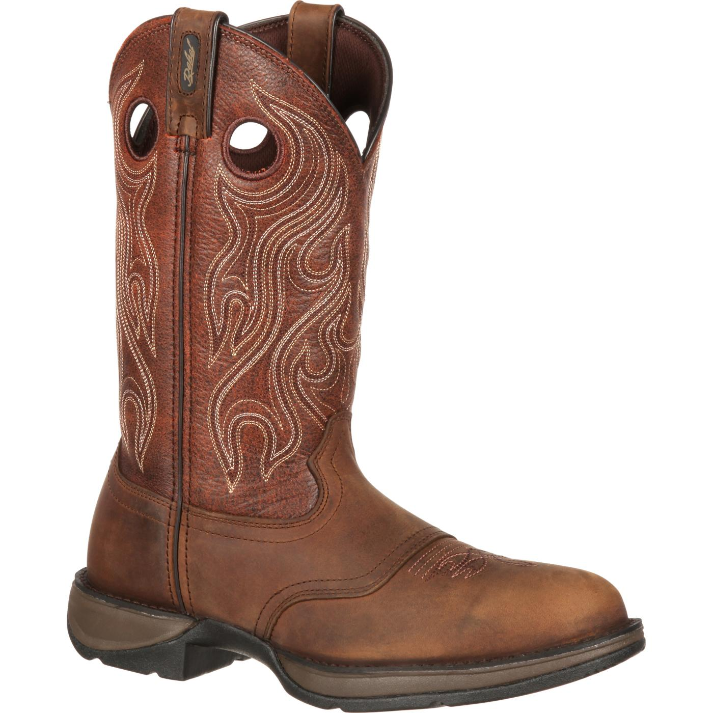 Rebel by Durango Brown Saddle Western Boot