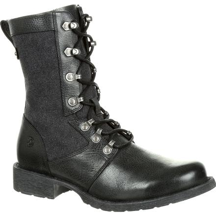 Durango Drifter Women's Black Military Inspired Lacer Boot, , large