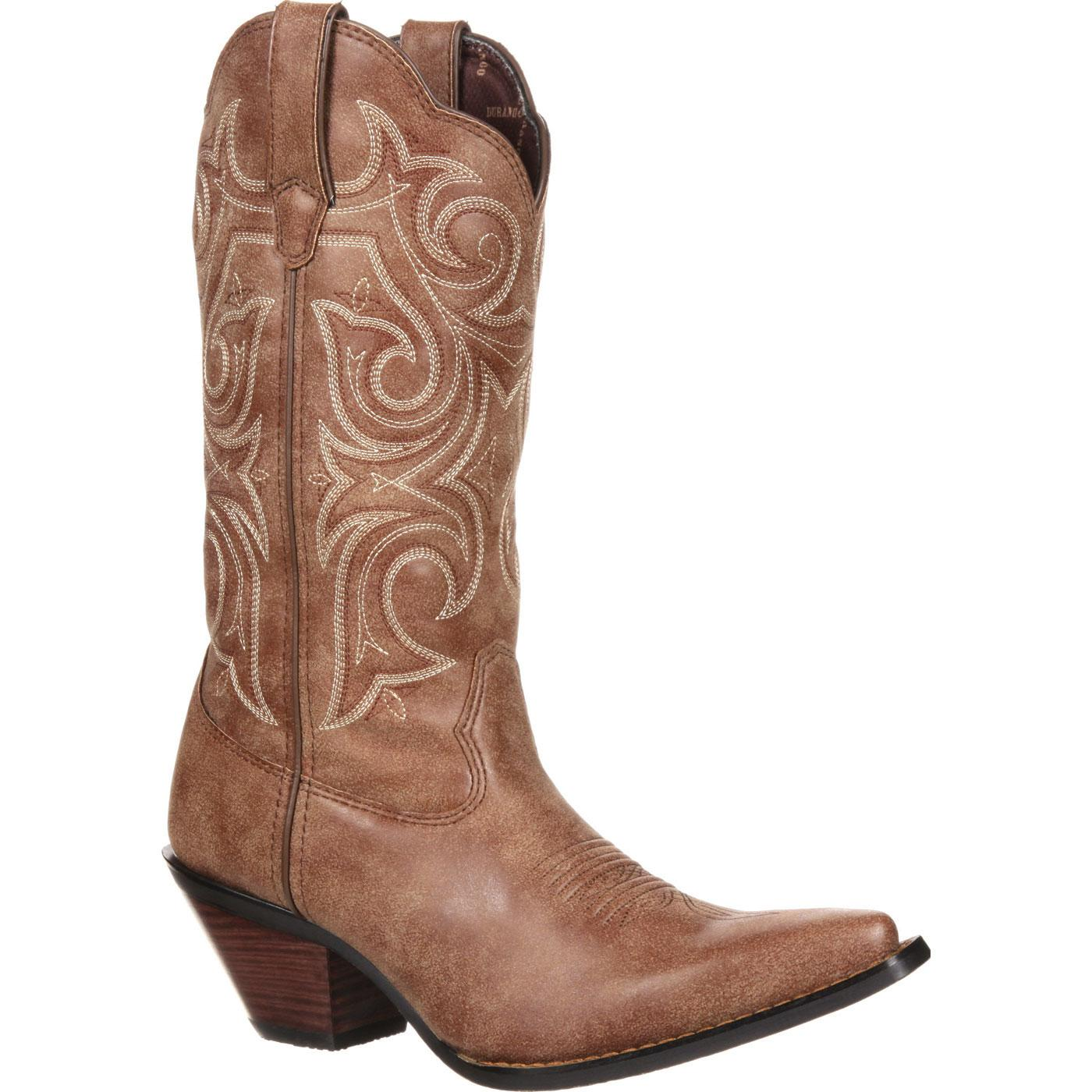 Durango Womens Boots Crush 11 Inch Western Scall Upped Cinnamon