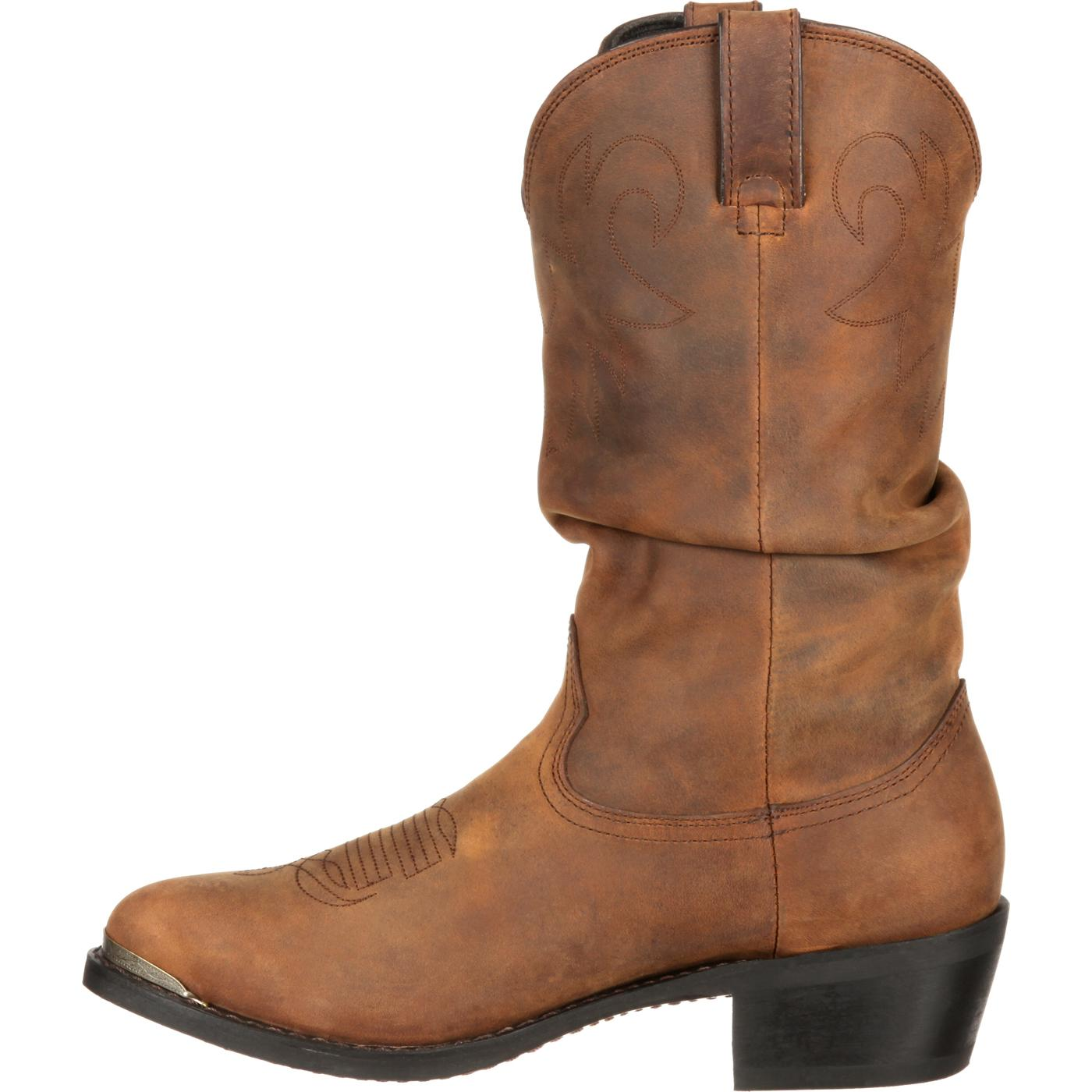 Durango Boot: Men's Distressed Western Slouch Boot, SW542