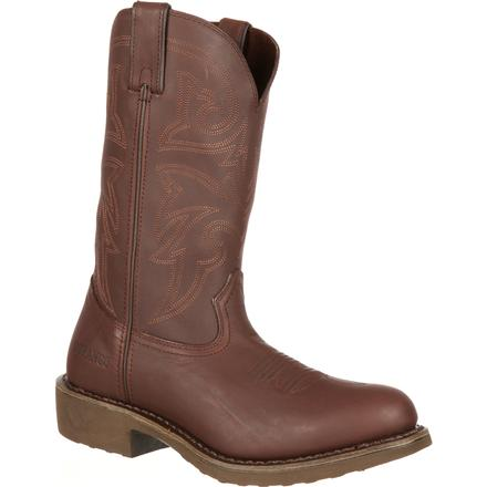 Durango Farm 'N' Ranch Brown Western Boot, , large