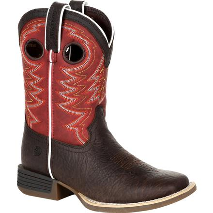 Durango® Lil' Rebel Pro™ Big Kid's Red Western Boot