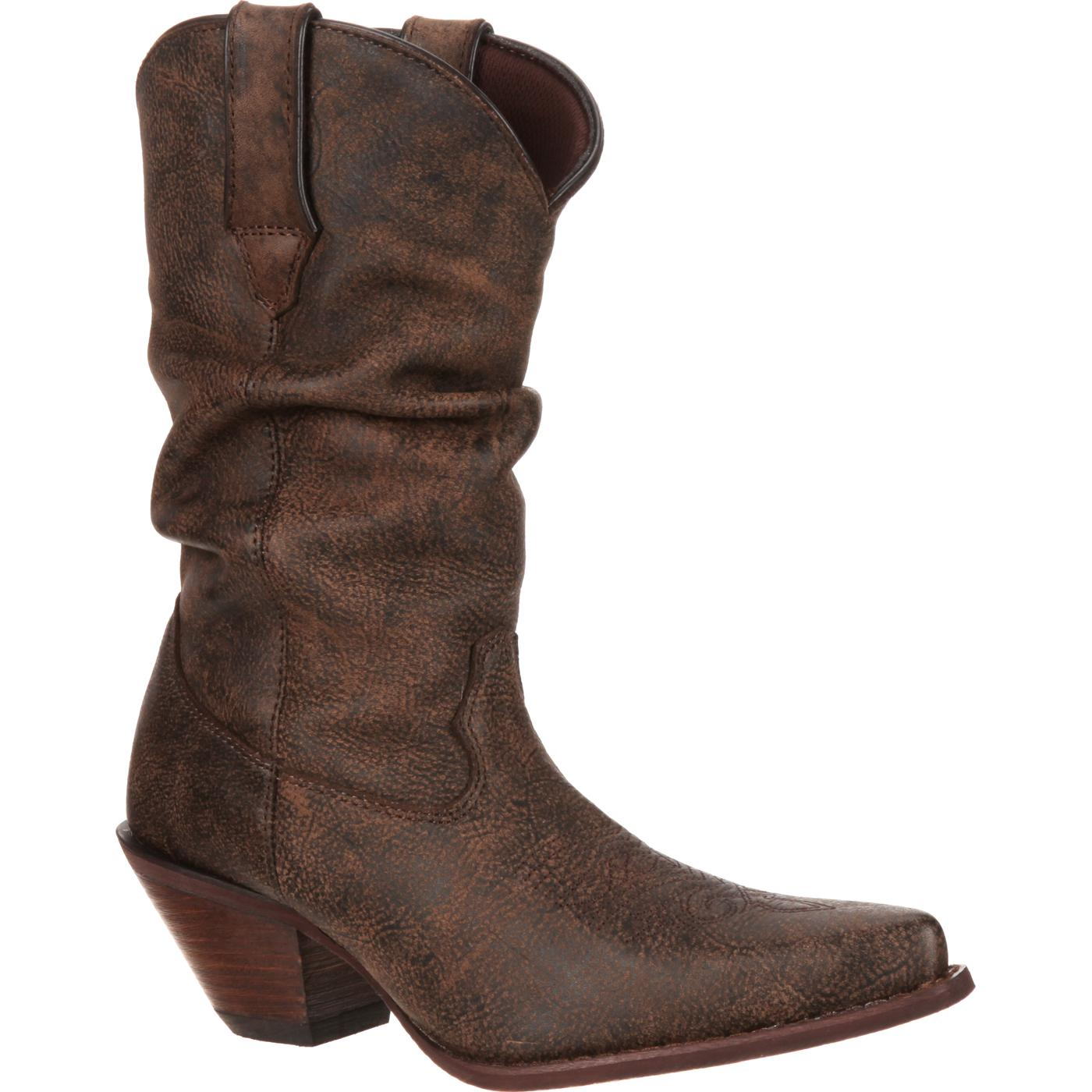 8c00e7eab912 Crush by Durango: Women's Brown Leather Slouch Western Boot