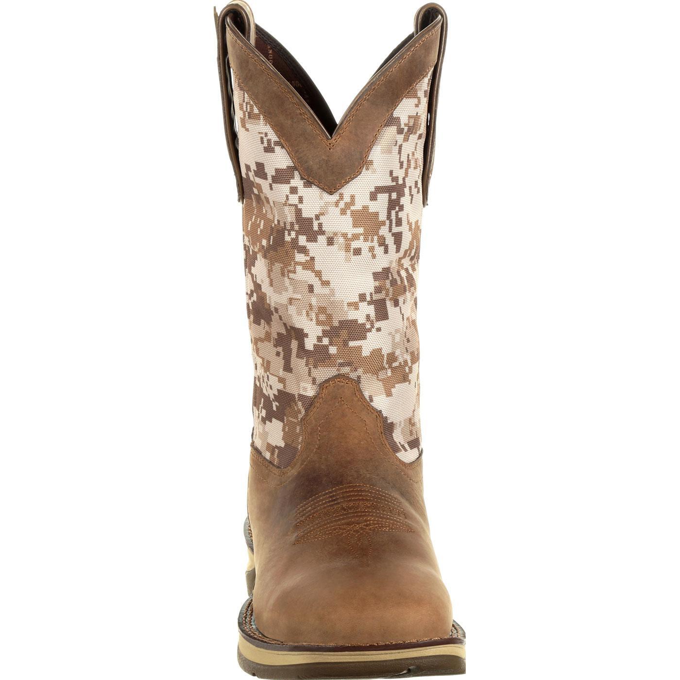 e0e41ca6679 Rebel by Durango Desert Camo Pull-on Western Boot