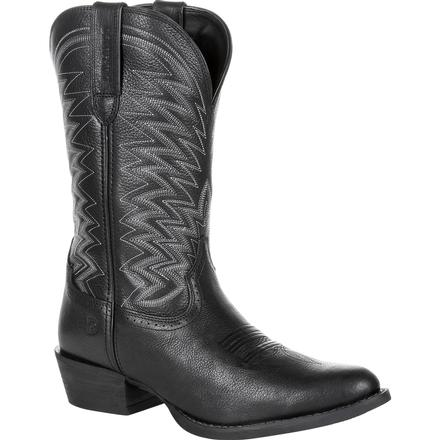 Durango Rebel Frontier Black Western R-Toe Boot, , large