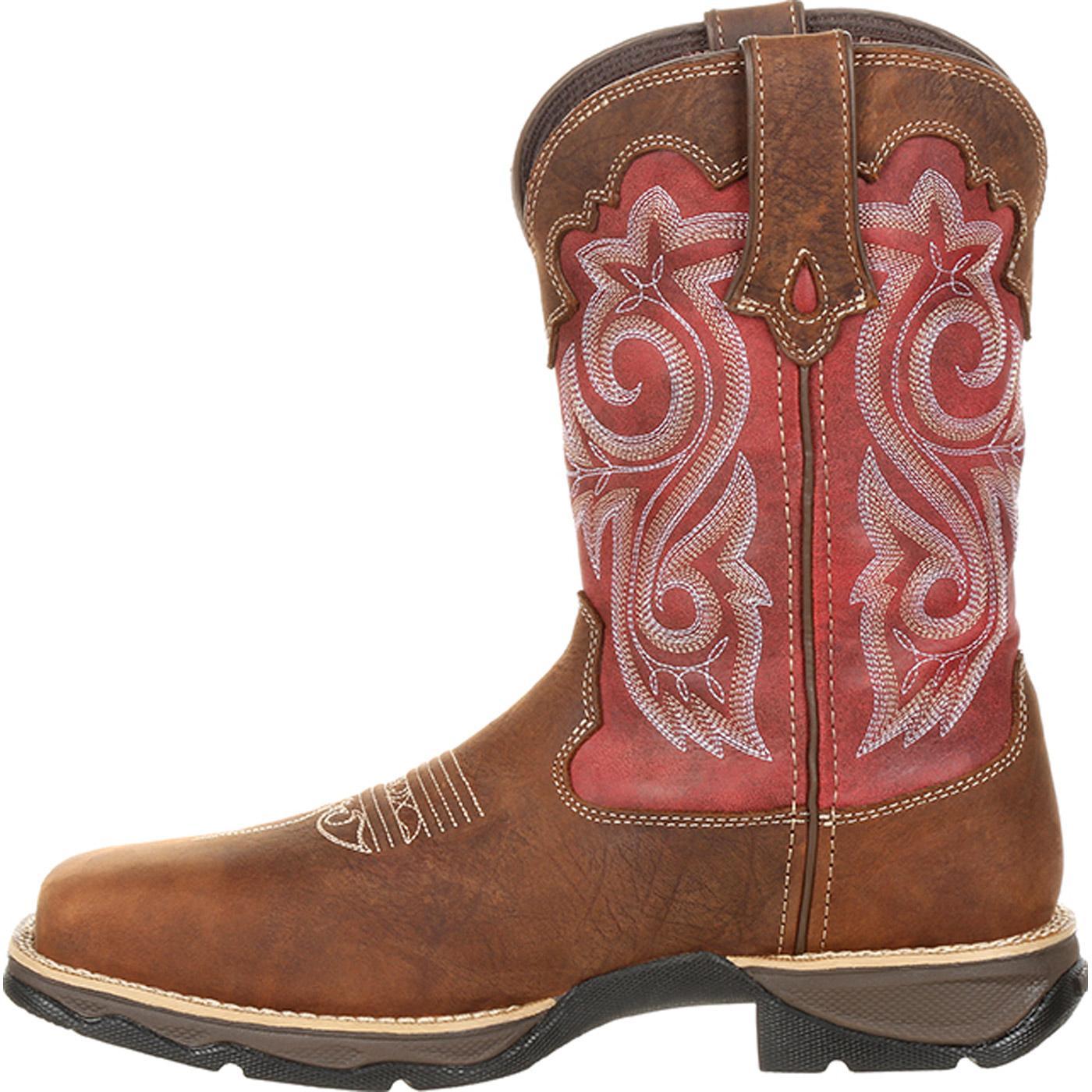 07fb9a29ffa Lady Rebel by Durango Women's Waterproof Composite Toe Western Work Boot