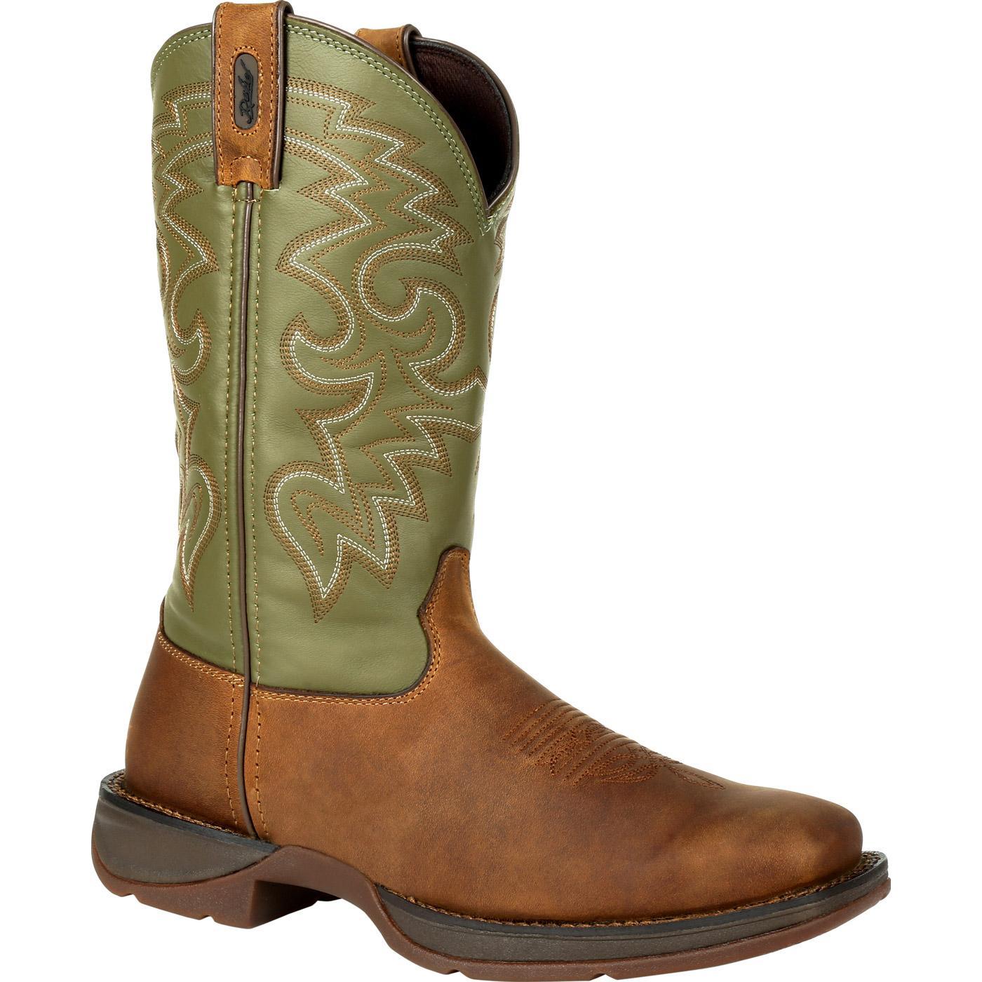 7ec814ca301a Rebel by Durango  Men s Green and Brown Comfort Western Boot