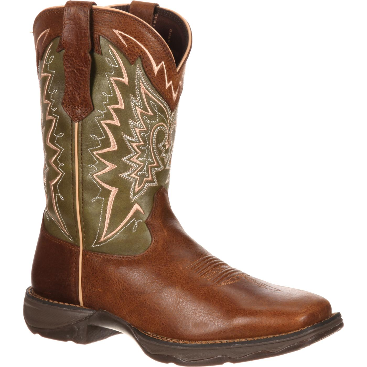New Sale Women Durango Boot DRD0053 10 Brown/Green Leather