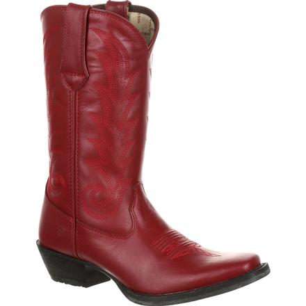 Durango Women's Red Leather Western Boot, , large
