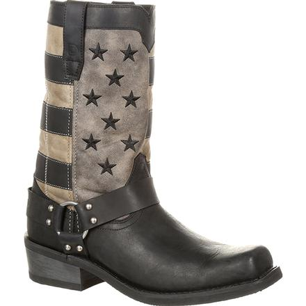 Durango Black Faded Flag Harness Boot, , large