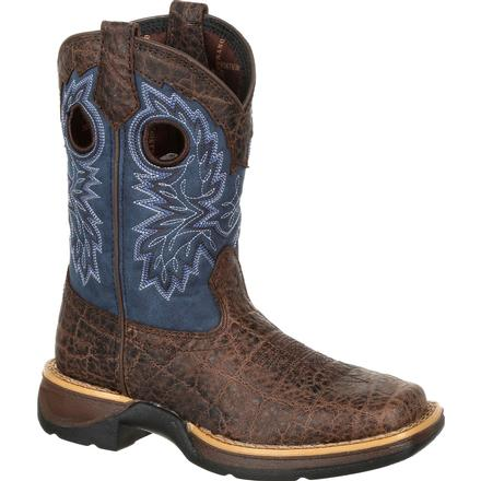 Lil' Rebel by Durango Big Kids Faux Exotic Western Boot, , large