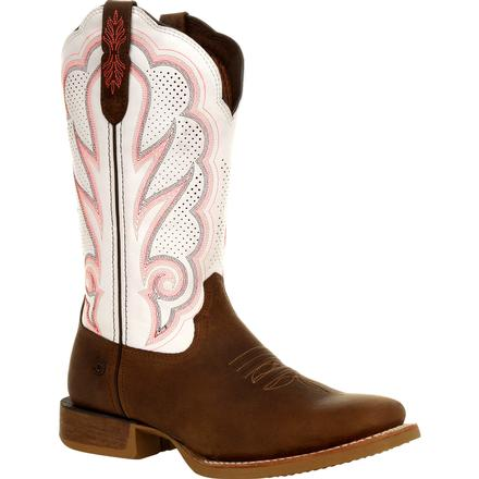 Durango® Lady Rebel Pro™ Women's White Ventilated Western Boot, , large