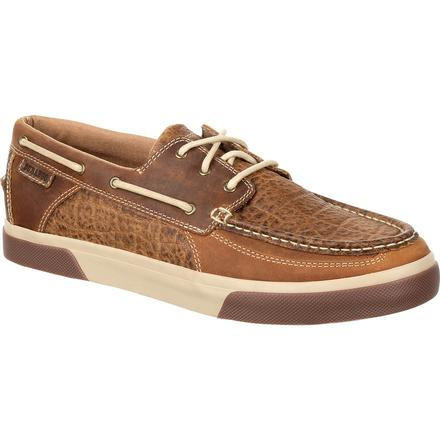 Durango® Music City™ Men's Western Embossed Boat Moc, , large