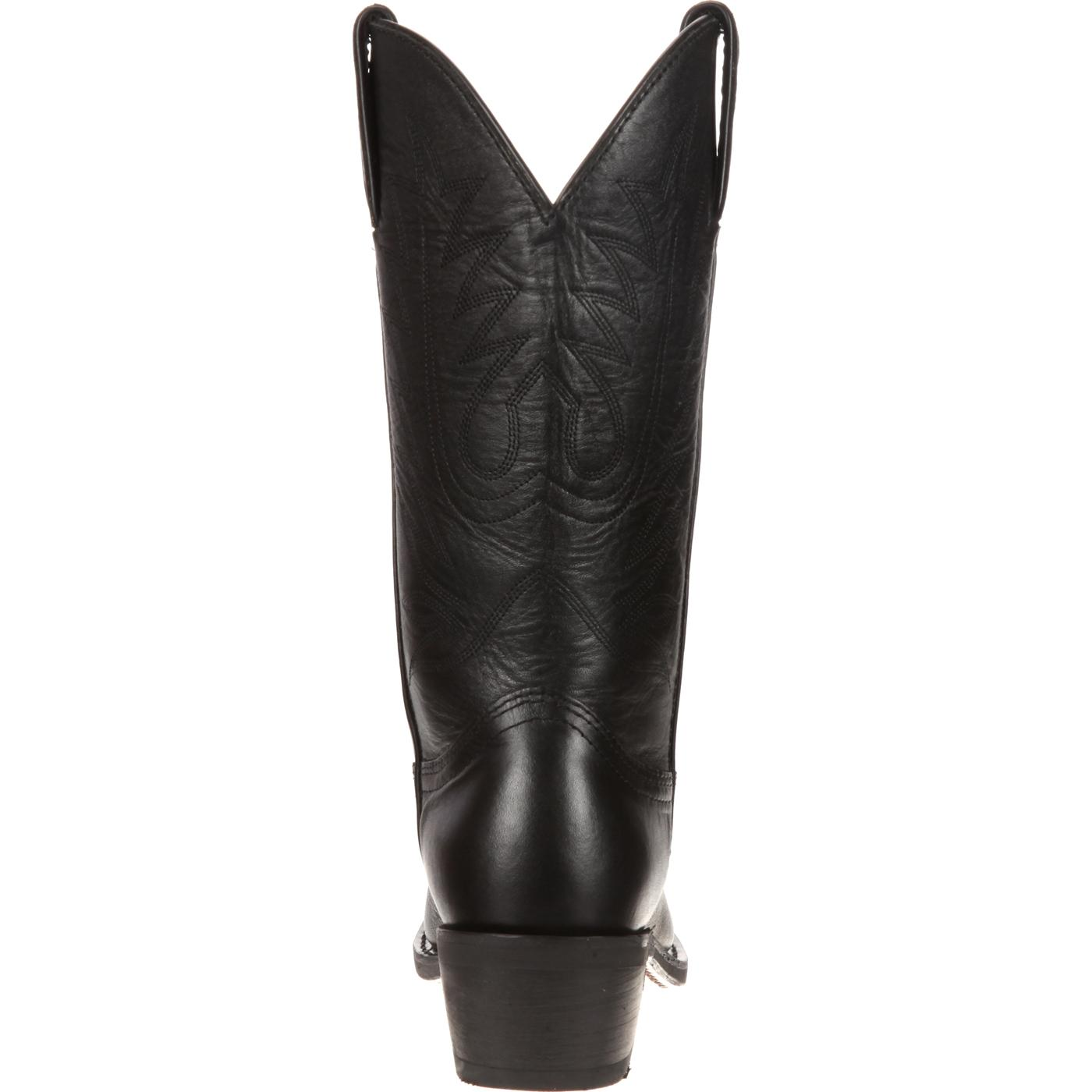 Durango: Women's Black Leather Western Boots, style #RD4100